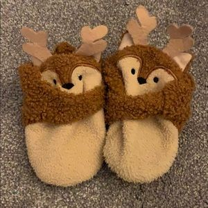 Sherpa style reindeer shoes